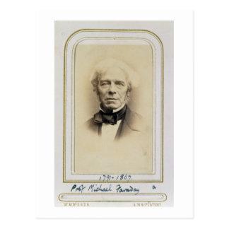 Porträt von Michael Faraday (1791-1867) (Albumen p Postkarte