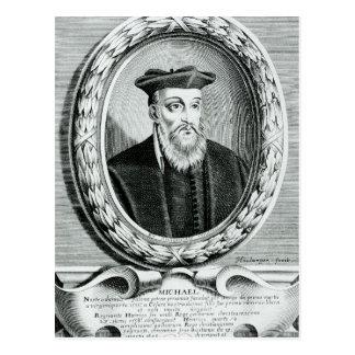 Porträt von Michel de Nostredame Postkarte