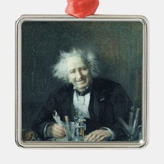 Porträt von Michel-Eugene Chevreul 1888 Quadratisches Silberfarbenes Ornament