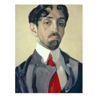 Porträt von Mikhail Kuzmin, 1909 Postkarte