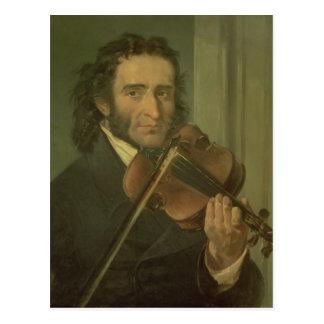 Porträt von Niccolo Paganini Postkarte
