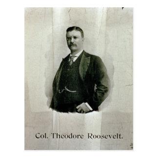 Porträt von Oberst Theodore Roosevelt (litho) Postkarte