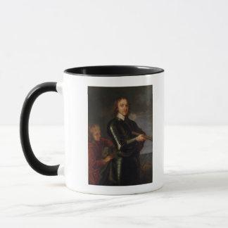Porträt von Oliver Cromwell Tasse