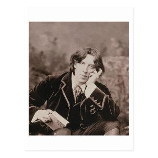 Porträt von Oscar Wilde (1854-1900), 1882 (b/w pho Postkarte