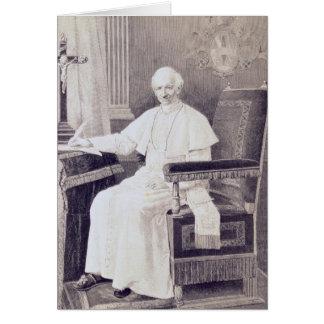 Porträt von Papst Löwe XIII Karte