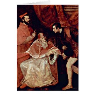 Porträt von Papst Paul III durch Titian Karte