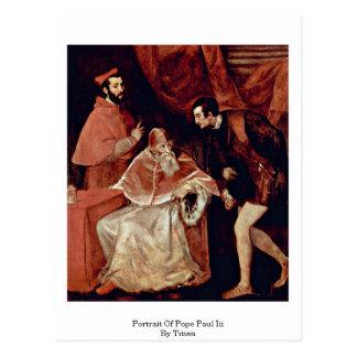 Porträt von Papst Paul III durch Titian Postkarte