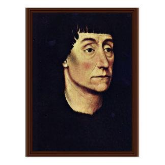 Porträt von Pierre De Beffremont By Weyden Rogier Postkarte