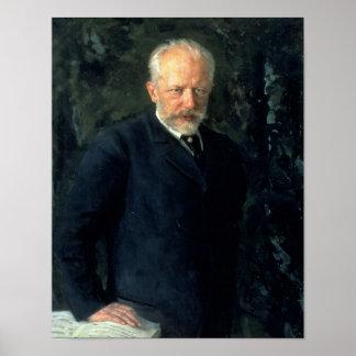 Porträt von Piotr Ilyich Tchaikovsky Poster