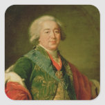 Porträt von Prinzen Alexander Borisovich Kurakin Quadrat-Aufkleber