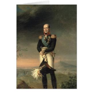 Porträt von Prinzen Mikhail Barclay de Tolly Karte