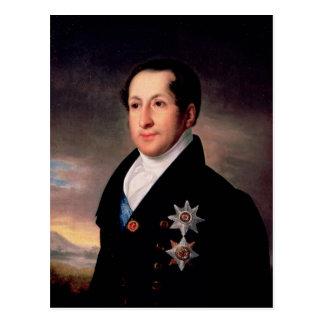Porträt von Prinzen Sergej Golitsyn, Posten 1828 Postkarte