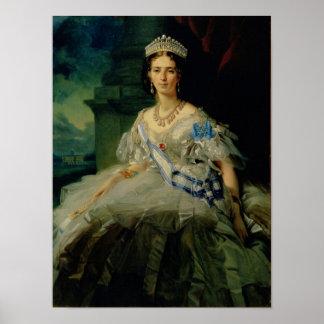Porträt von Prinzessin Tatjana Alexanrovna Poster