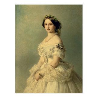 Porträt von Prinzessin von Baden, 1856 Postkarte