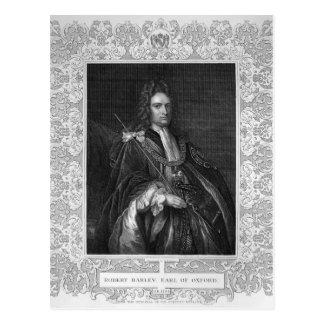 Porträt von Robert Harley, Graf von Oxford Postkarte