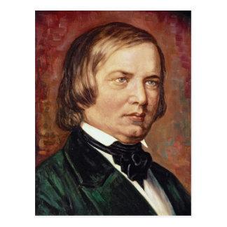 Porträt von Robert Schumann Postkarte