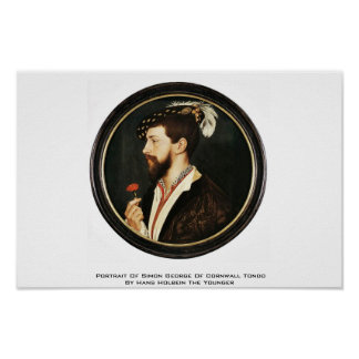 Porträt von Simon George von Cornwall Tondo Plakat