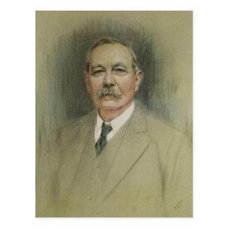 Porträt von Sir Arthur Conan Doyle Postkarte