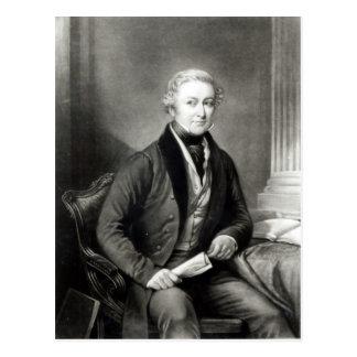 Porträt von Sir Robert Peel Postkarte