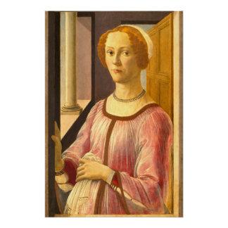 Porträt von Smeralda Bandinelli durch Botticelli Poster