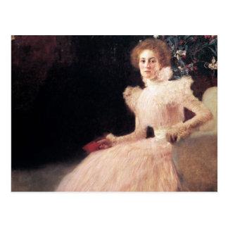 Porträt von Sonja Knips; Malerei Gustav Klimt Postkarte