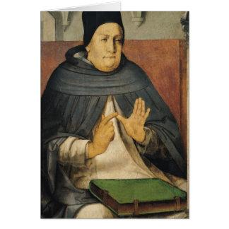 Porträt von St Thomas Thomas von Aquin c.1475 Karte