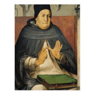 Porträt von St Thomas Thomas von Aquin c.1475 Postkarte