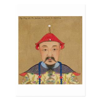 Porträt von T'ai T'sin Che-Tsou (1638-61) Postkarte