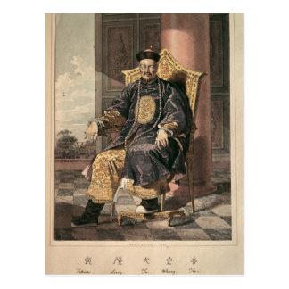 Porträt von Tchien Lungen-Kaiser, 1793 Postkarte
