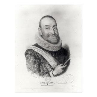 Porträt von Theodore Agrippa d'Aubigne Postkarte