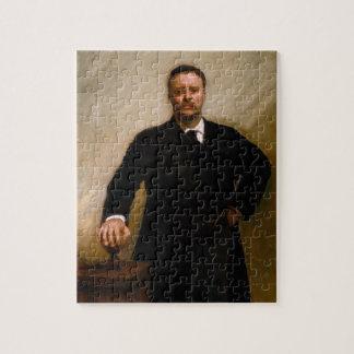 Porträt von Theodore Roosevelt durch Sargent Puzzle