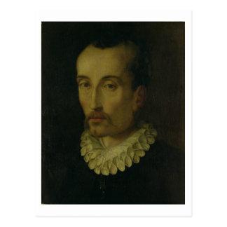 Porträt von Torquato Tasso, 1585-90 (Öl auf Postkarte
