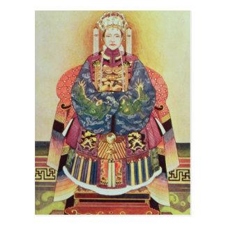 Porträt von Tzu seins, der KaiserinDowager Postkarte