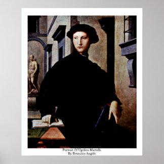 Porträt von Ugolino Martelli Durch Bronzino Angel Plakatdruck