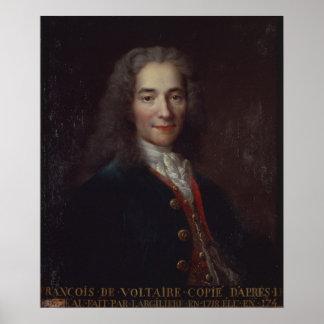 Porträt von Voltaire Poster