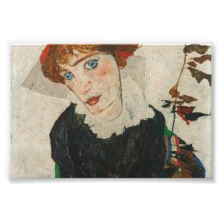 Porträt von Wally durch Egon Schiele Fotodruck