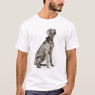 Porträt von Weimaraner Hund T-Shirt