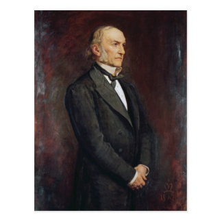 Porträt von William Ewart Galdstone 1879 Postkarte
