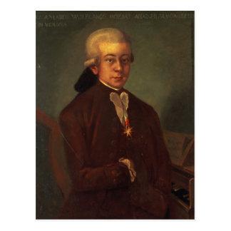 Porträt von Wolfgang Amadeus Mozart 2 Postkarte
