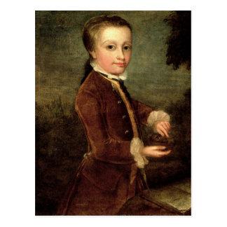 Porträt von Wolfgang Amadeus Mozart alterte Postkarte
