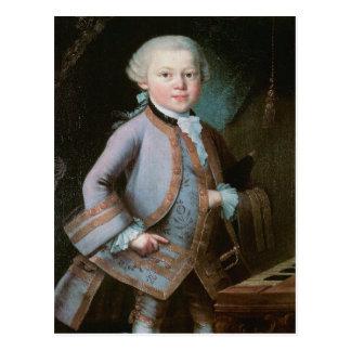 Porträt von Wolfgang Amadeus Mozart Postkarte