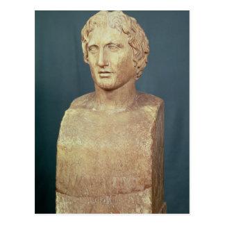 Porträtfehlschlag von Alexander der Große Postkarte