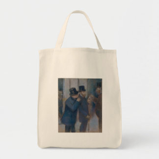 Porträts an der Börse durch Edgar Degas Tragetasche