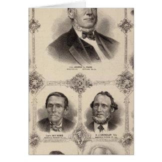 Porträts von Illinois dreizehn Karte