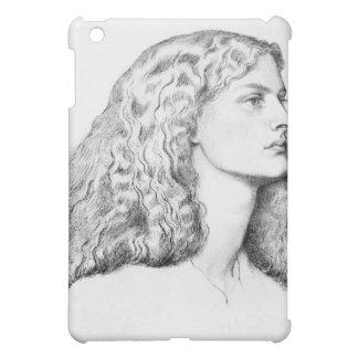Porträtzeichnen der Frau iPad Mini Cover