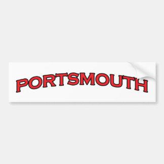 Portsmouth Virginia Autoaufkleber