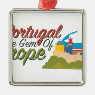 Portugal-Edelstein von Europa Silbernes Ornament