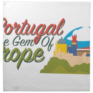 Portugal-Edelstein von Europa Stoffserviette