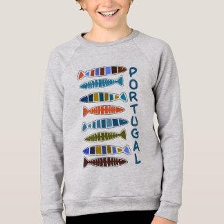 PORTUGAL-Fisch-Muster-Shirts u. -jacken Sweatshirt