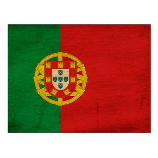 Portugal-Flagge Postkarte